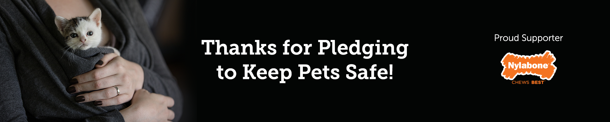 Thanks for Pledging to Keep Pets Safe!
